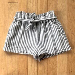 BCBG High Waisted Striped Shorts